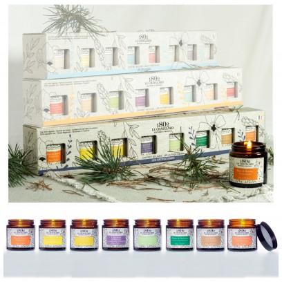 Coffret de 8 Bougies Authentiques - Les Aromatiques